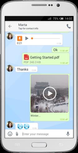 Zangi Messenger, UX