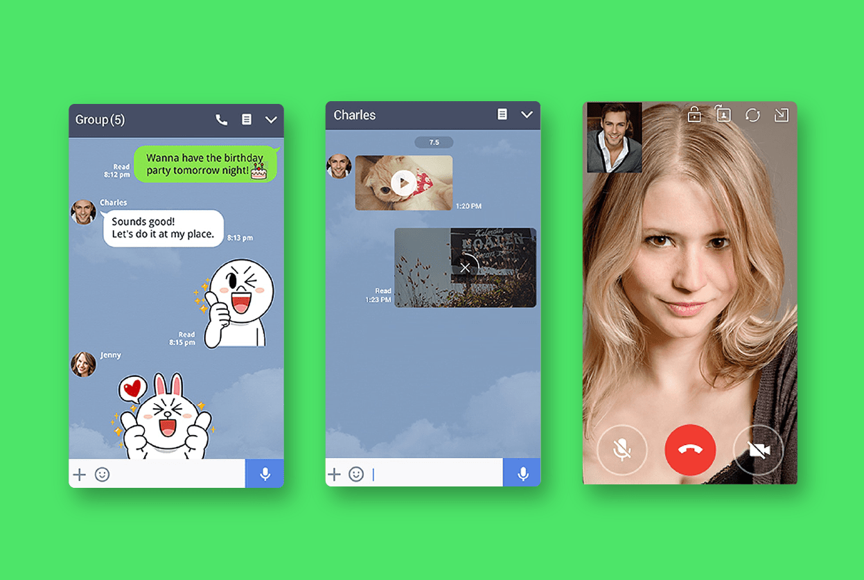 LINE Messenger comparison, zangi