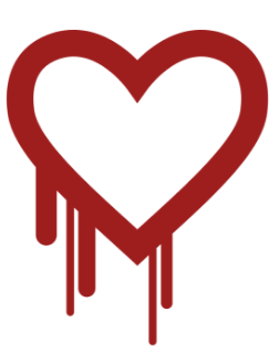 "The logo representing Heartbleed. Security company ""Codenomicon"" created the logo and came up with the name 'Heartbleed', helping to raise awareness of the issue."