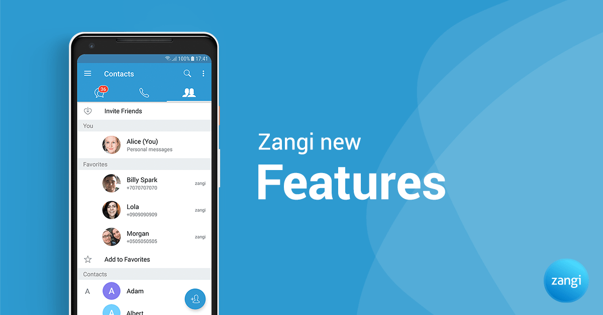 Zangi Messenger New Features