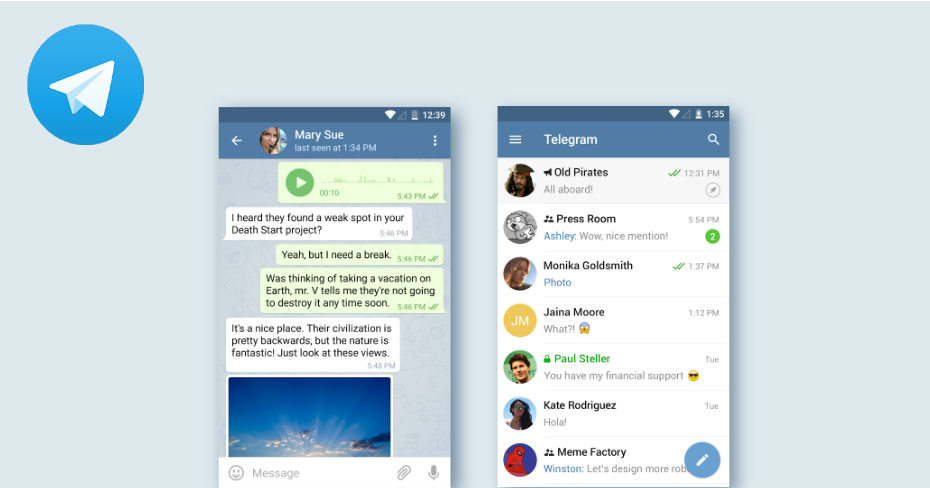 Telegram Secure Messaging App