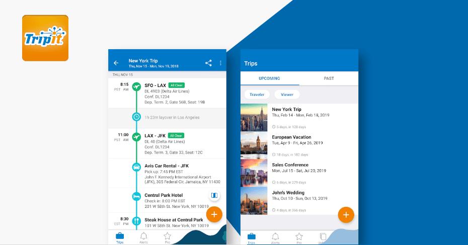 TripIt Best budget apps