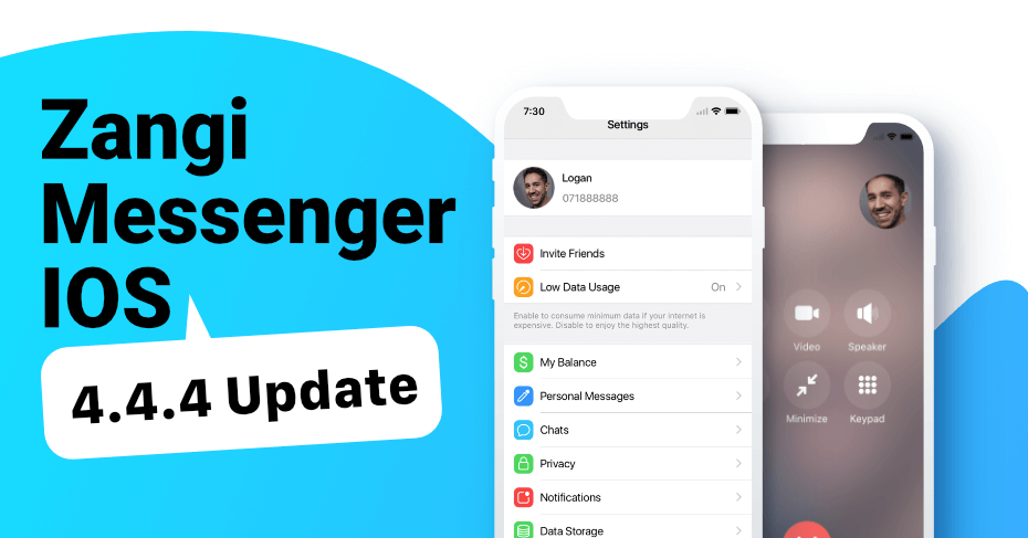 zangi messenger supports ios 12