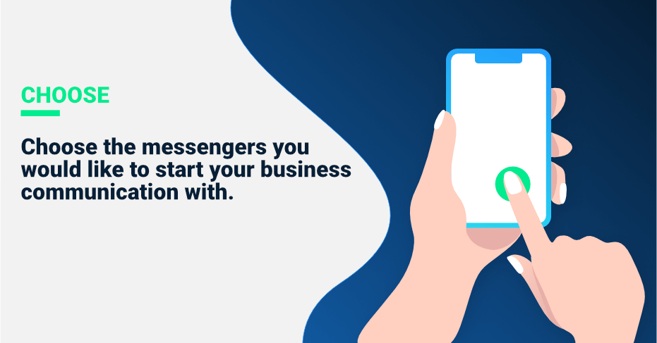 messenger marketing steps, choose