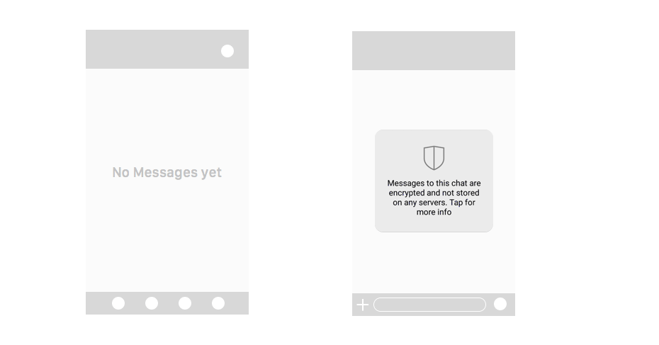messaging app ux design first prototype