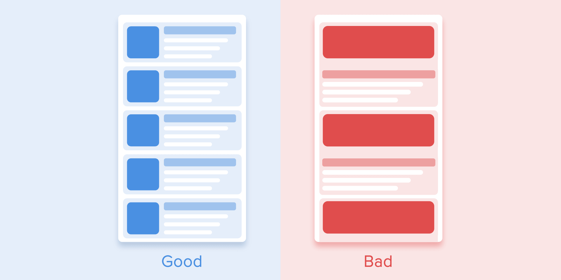 good vs bad messaging app ux design