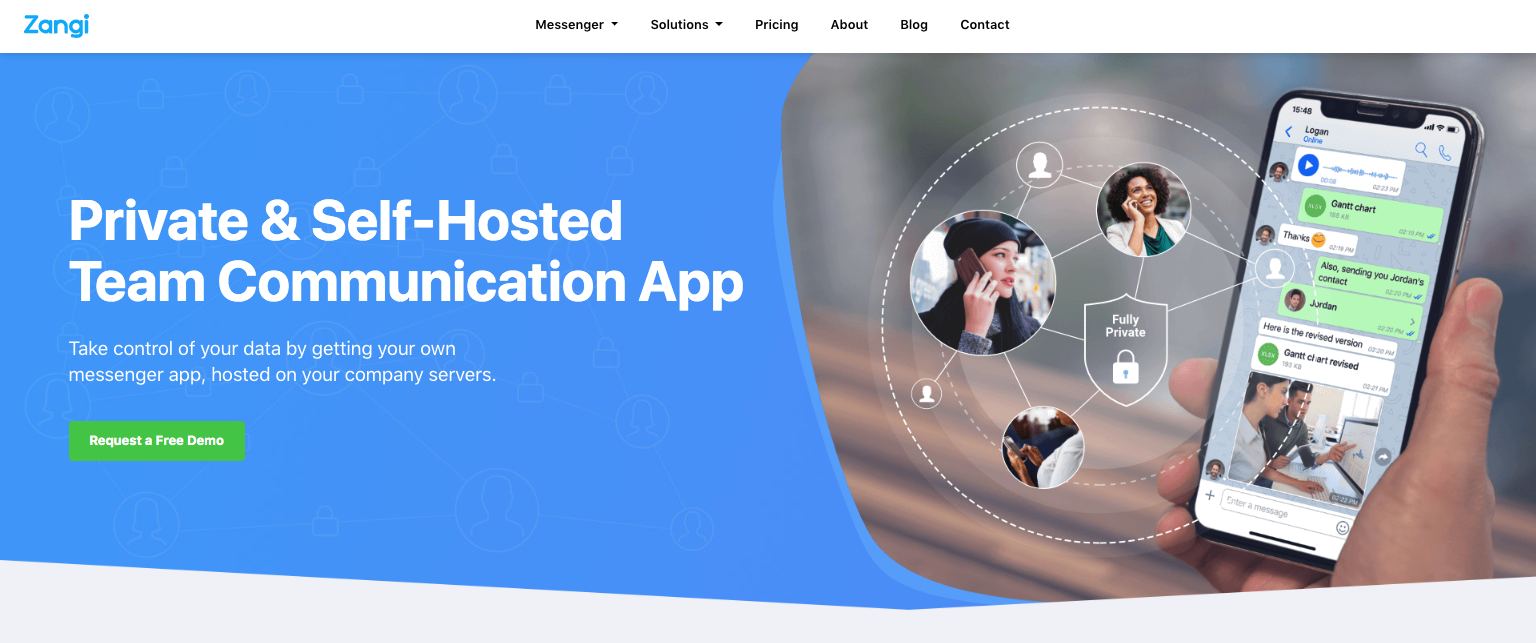 Zangi teams self-Hosted Team Communication Apps