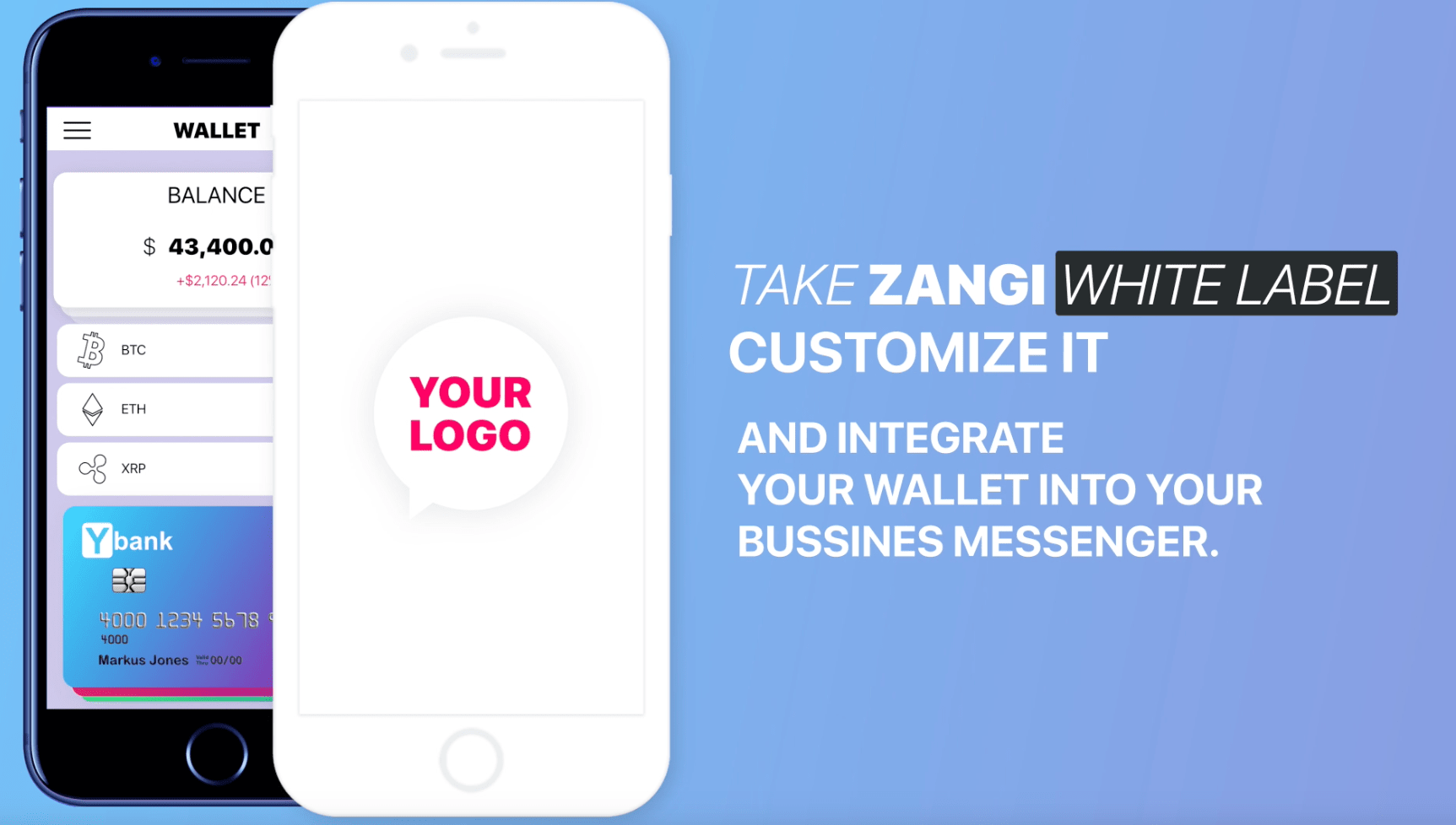 integrate your wallet into zangi business messenger