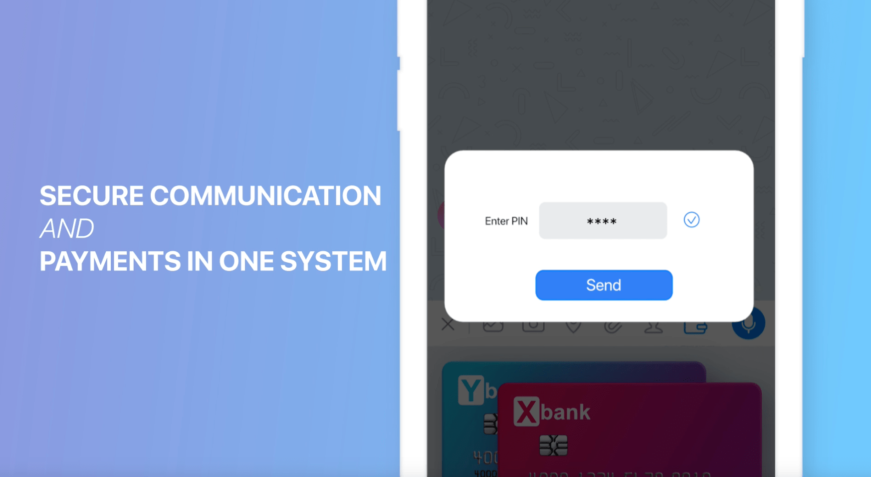 Secure communications and payments in one system Enterprise Messaging for FinTech