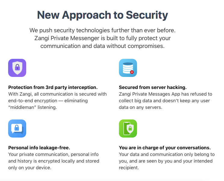 New approach to security for the Best Secure Messaging App for Government & Security Institutions Zangi
