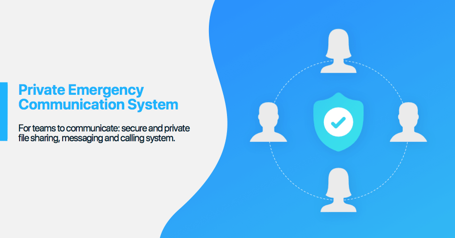 private emergency communication system private messenger for police