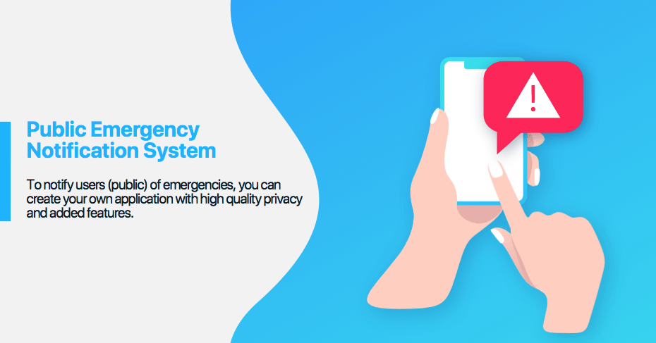public emergency notification system private messenger for police