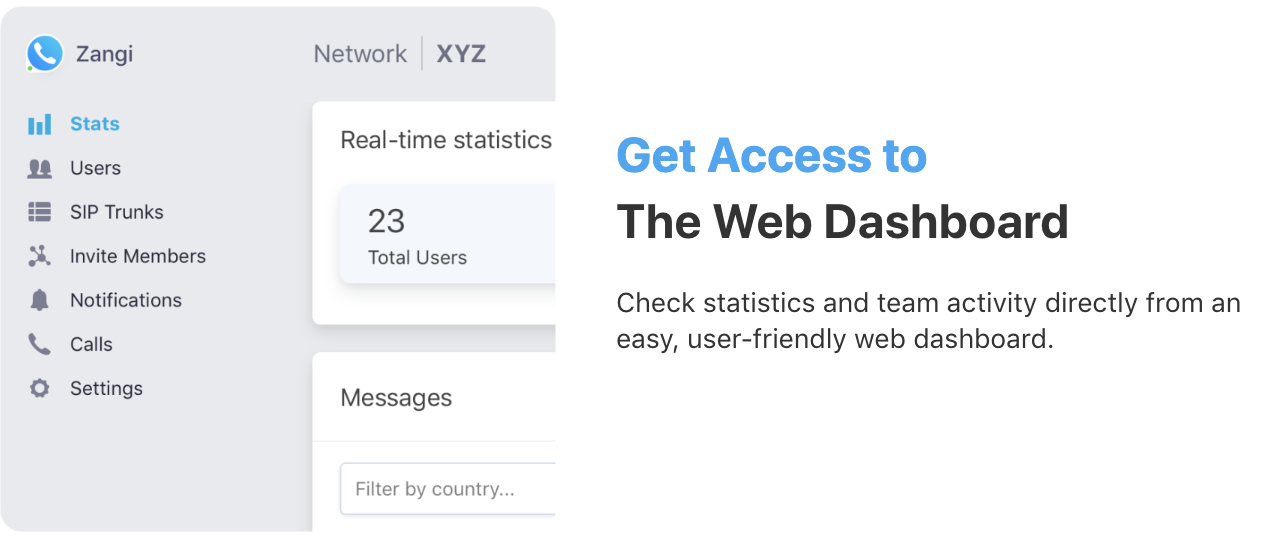Web Dashboard Phone System for Remote Workers & Conferencing