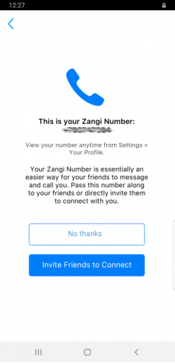 Zangi number new registration