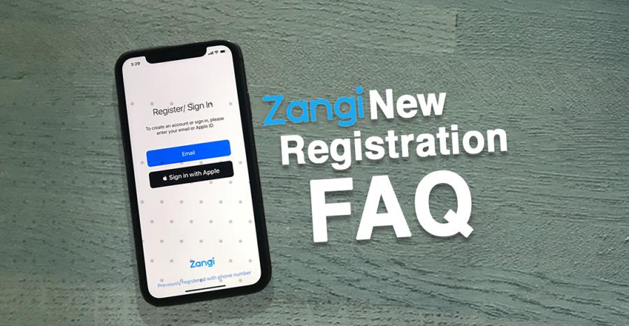what is a Zangi number, Zangi new registration