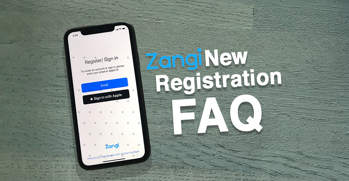 what is a Zangi number, Zangi new registration