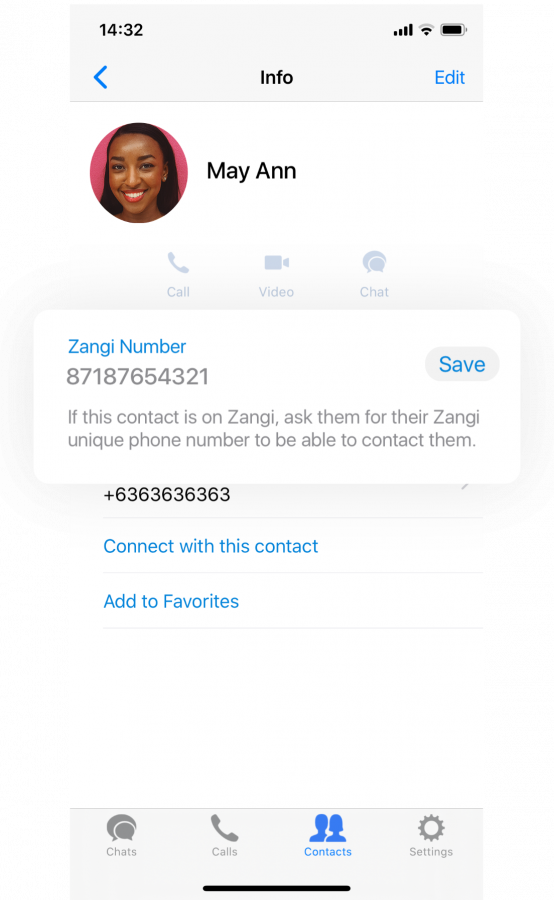 Method. 4 How to Call a Zangi Number by Adding the Number to an Existing Contact