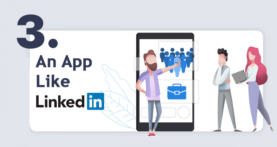 create an app like linkedin