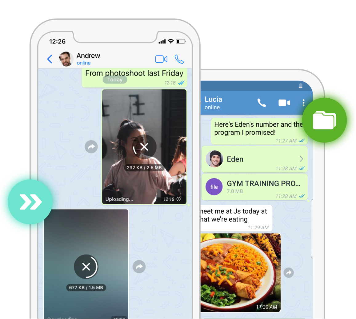 Send full quality files and media with Zangi Messenger